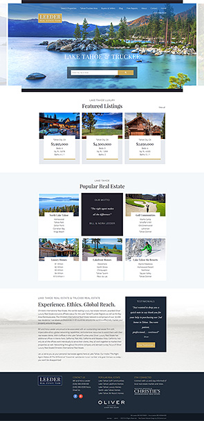 Bill Leeder Lake Tahoe Real Estate Website